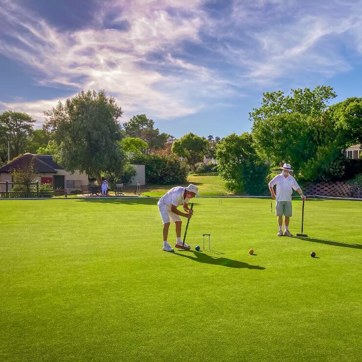<p>Helderberg Village Croquet club</p> - 2